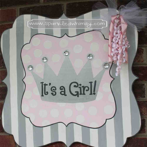 Unavailable listing on etsy for Baby shower front door decoration ideas