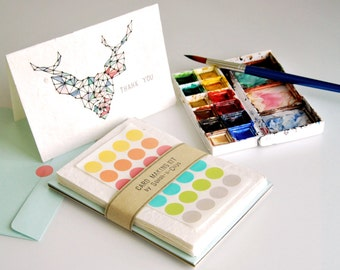 Card Making Kit - 10 set of blank cards made of mulberry paper & assorted envelopes - A6 (4x6 Inch)
