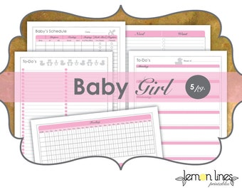 Baby Girl Printable Pack - INSTANT DOWNLOAD