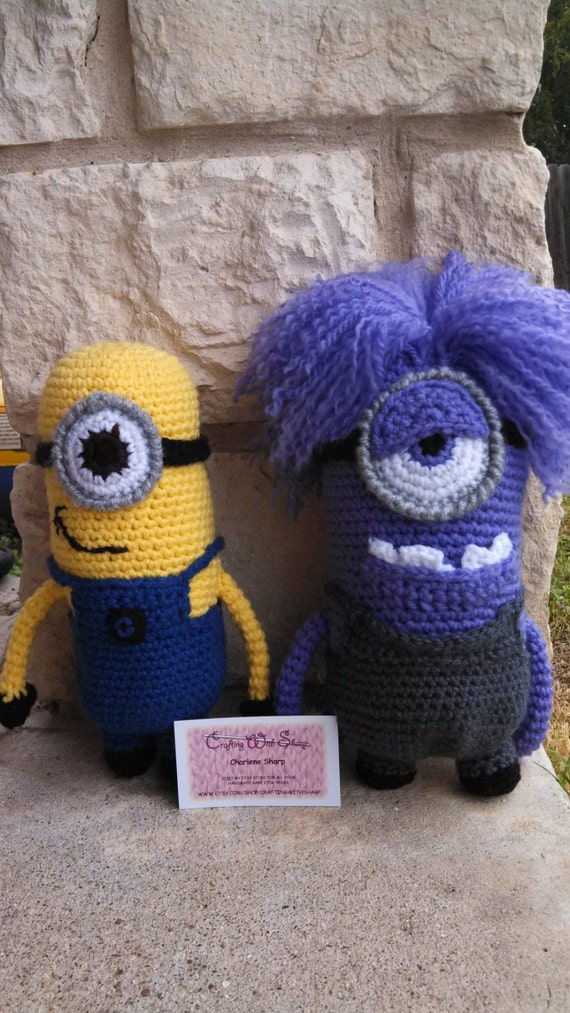 Amigurumi Minion Etsy : Set of 2 Minion Amigurumi Dolls. Get your by CraftingWithSharp