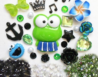Sale -- DIY 3D Kawaii Resin Flatback Decoden Cabochons Cell Phone Case Deco Kit