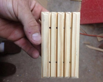 312 wooden soap dishes