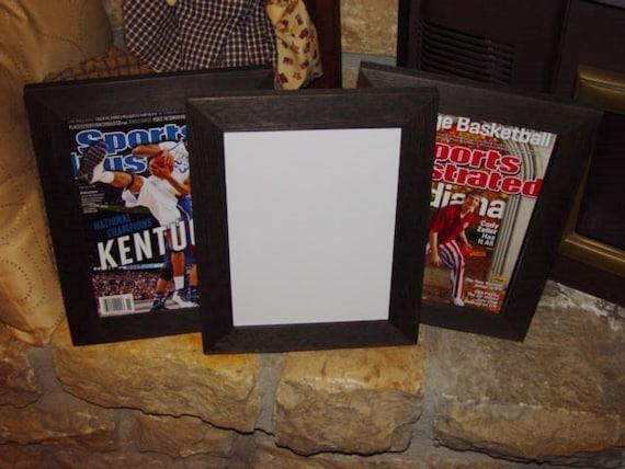 sports illustrated magazine frame 8x105 solid rustic cedar current size magazine display dark finish