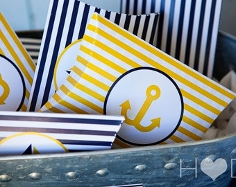 Nautical Baby Shower Printable Pillow Boxes - 2 Printable PDFs - Instant Download - Immediate Download