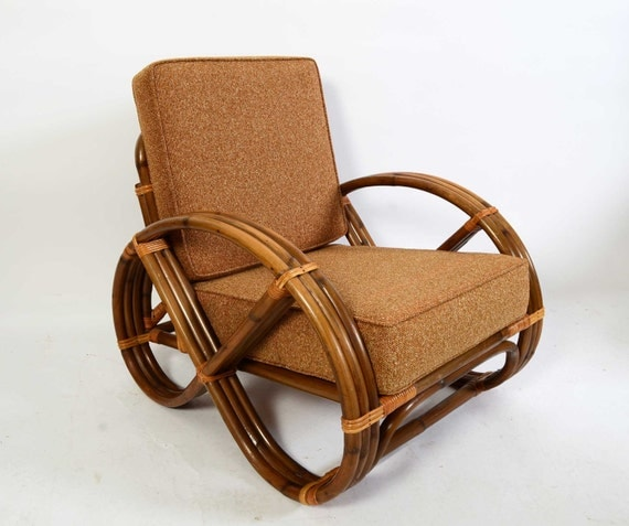 Bamboo And Rattan Arm Chair Made By Calif Asia 1960 Pretzel