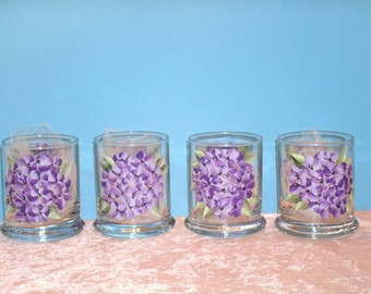 VOTIVE CUPS with HYDRANGEA