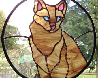 Kitty Cat Stained Glass