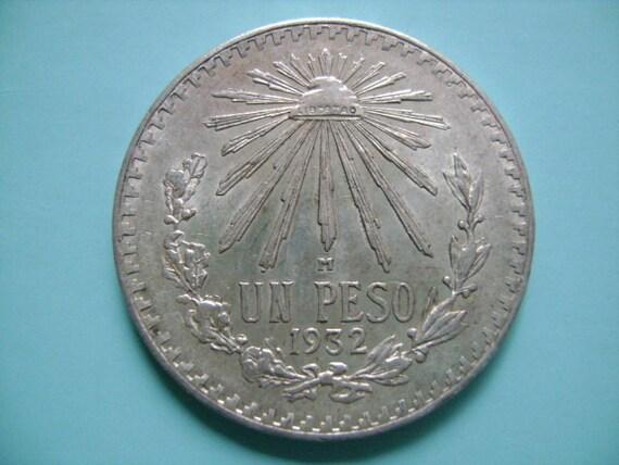 1 Peso Vintage Mexican Silver Coins Buy Silver Values
