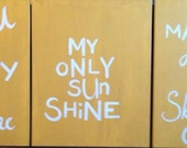 you are my sunshine painted canvasses