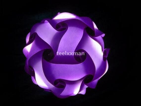 Purple Modern IQ Puzzle Lamp Shade DIY Jigsaw by ...