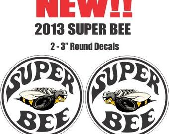 2 New Style Dodge Mopar Plymouth Chrysler Hemi Super Bee Decals