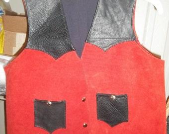 Woman's/girl's Handmade leather vest