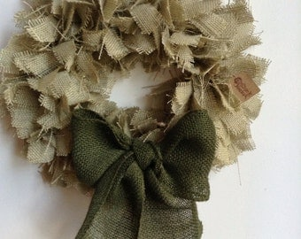 "17"", St Patrick's Day Wreath, Green Wreath, Christmas  Wreath, Holiday Wreath, Green Burlap Wreath"