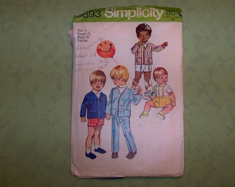 Vintage Simplicity Pattern - 9893 - Toddler   Size 2
