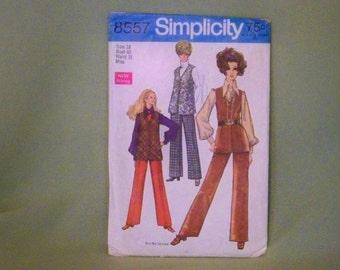 Vintage Simplicity Pattern - 8557 - Vest And Pants   Size 18