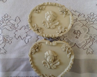 Dezine Angel Trinket Boxes Set of Two Hand Painted