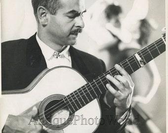 David Moreno flamenco guitar player vintage music photo