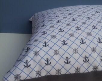 Nautical Print Cushion Cover