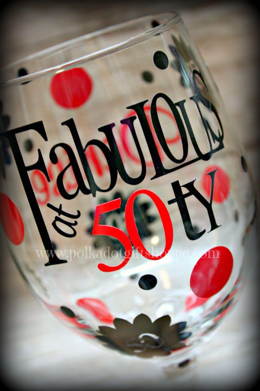 50 Fabulous Ways To Wear Glitter Nails Like A Boss: Fabulous At 50 Birthday Wine Glass Birthday By