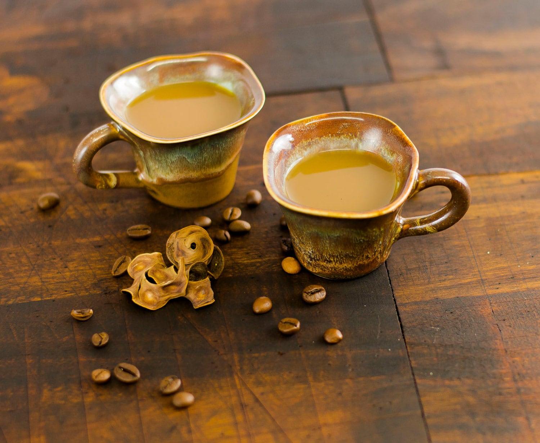 Espresso Coffee Cups ~ Espresso cup set coffee ceramic stoneware pottery unique