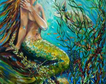 Mermaid art- Free Spirit