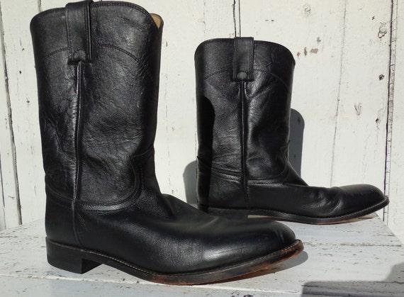Mens Black Justin Work Boots Vintage Justin Boots Mens