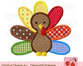 Thanksgiving Turkey 03 -Digital Embroidery Applique  for boys-4x4 5x7 6x10 Machine Embroidery Applique Design
