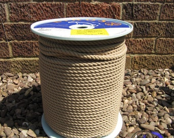 REDUCED PRICE!!! Liros Classic Line, Mat Buff Polyester, Synthetic Hemp Rope, 8mm diameter, 3 strand, 198m Coil. (part used 200 meter coil)