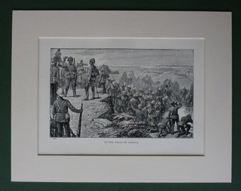 1885 Antique Print Of The Nile Expedition - Sudan Print - Vintage Military Print - British Army - British Empire - Khartoum - Mahdist War