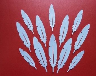 Die Cut Feathers 2c