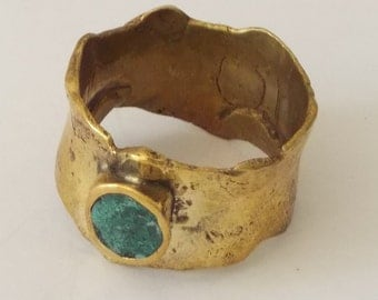 Ancestral ring handmade with brass