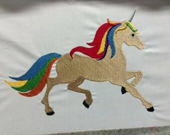 Unicorn Embroidery Design, Rainbows and fairies, fairy tale, horse lovers, dream, dreamers