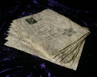 Wizard Spell Book Pages - Destruction Spells