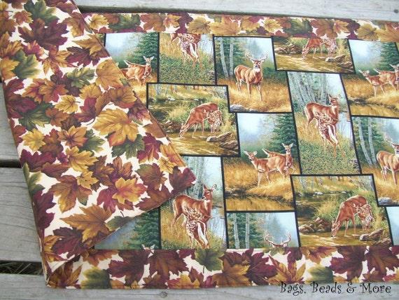 Autumn Table Runner, Deer Centerpiece