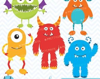 monster clipart commercial use, vector graphics, digital clip art, digital images - CL546