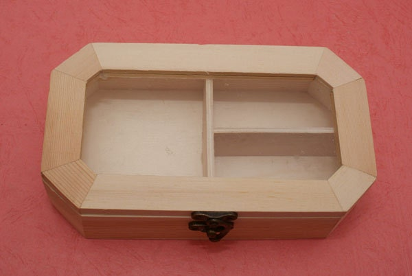 unfinished wood jewelry box with latch
