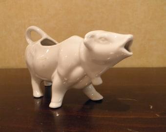 White Cow Creamer with Original Sticker