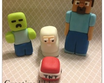 Minecraft Inspired Cake Toppers