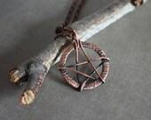 Pentagram necklace - Halloween - Dark - Mistic - Black - Grey - Witch - Pagan - Star