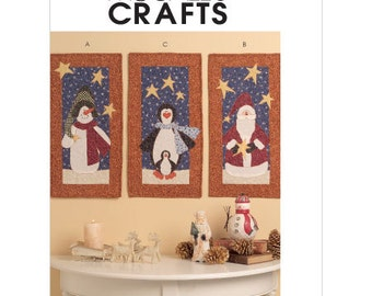 McCalls 5781 Sewing pattern, Mini Quilts, Wall Hangings, Christmas mini Quilt pattern, Out of Print Pattern