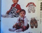 "McCall's Infants' Romper and Tops Pattern 6686 Weight 13 lbs-24 lbs, Height 25""-32"""