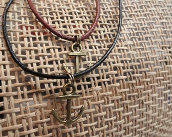Anchor Brass Necklace