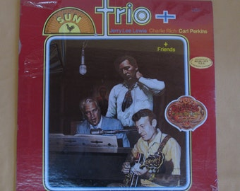 Trio+ Jerry Lee Lewis, Charlie Rich, Carl Perkins Sun Records LP (Sealed)