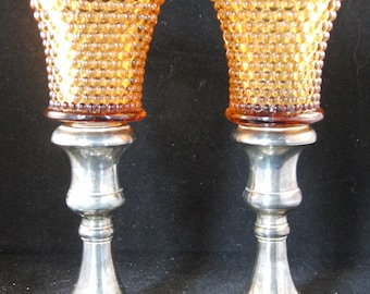 Vintage silver plated candle holders by Godinger Silver (2 candle holders)