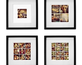 Personal Instagram, Phone, Digital Camera Photos Collage - 1 Print of 1, 4, 9 or 16 pictures