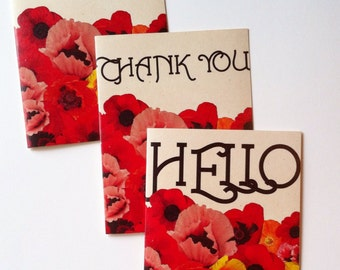 Beautiful Poppy Notecard Set // Blank Inside
