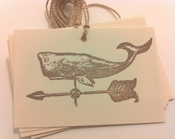 Whale Weather Vane Tags
