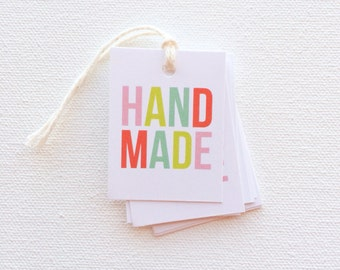 Handmade tags - Product tags - Handmade business tags - set of 12