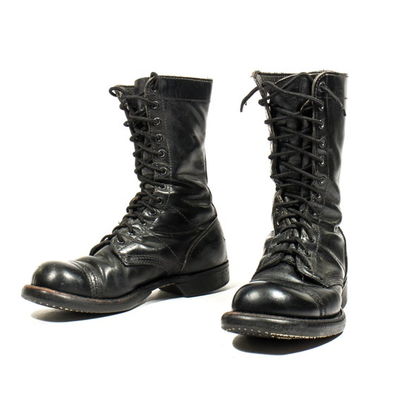items similar to vintage corcoran jump boots paratrooper