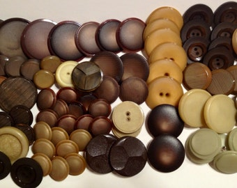 Vintage Lot of Buttons, Coat Buttons, Sweater Buttons, Vintage Buttons, lot 240